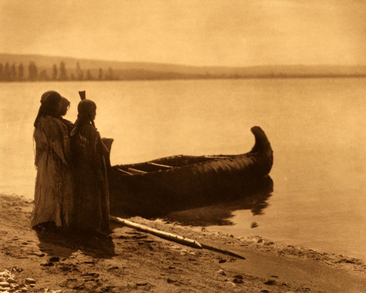 Kutenai Edward Curtis Native American Photo Rush gatherer
